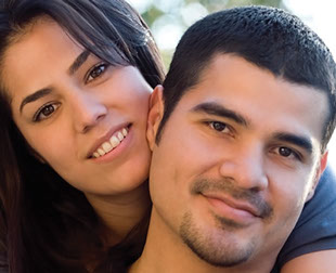 Young Hispanic couple